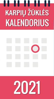 Karpių žūklės renginių kalendorius 2020