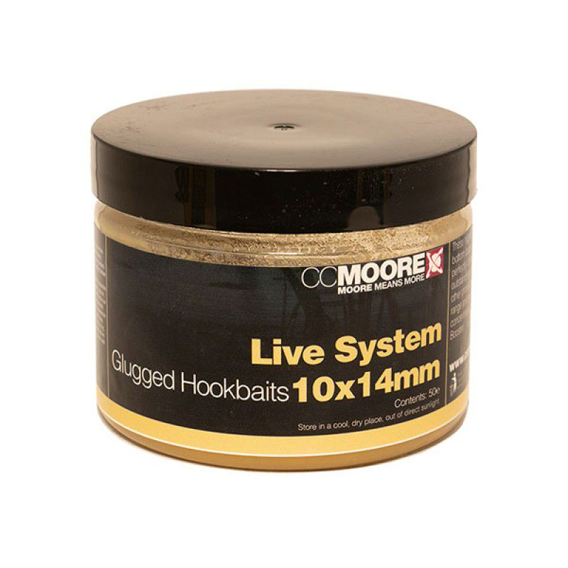 CC MOORE Live System Glugged Hookbait Boilies masaliniai boiliai (10x14 mm, 35 vnt.)