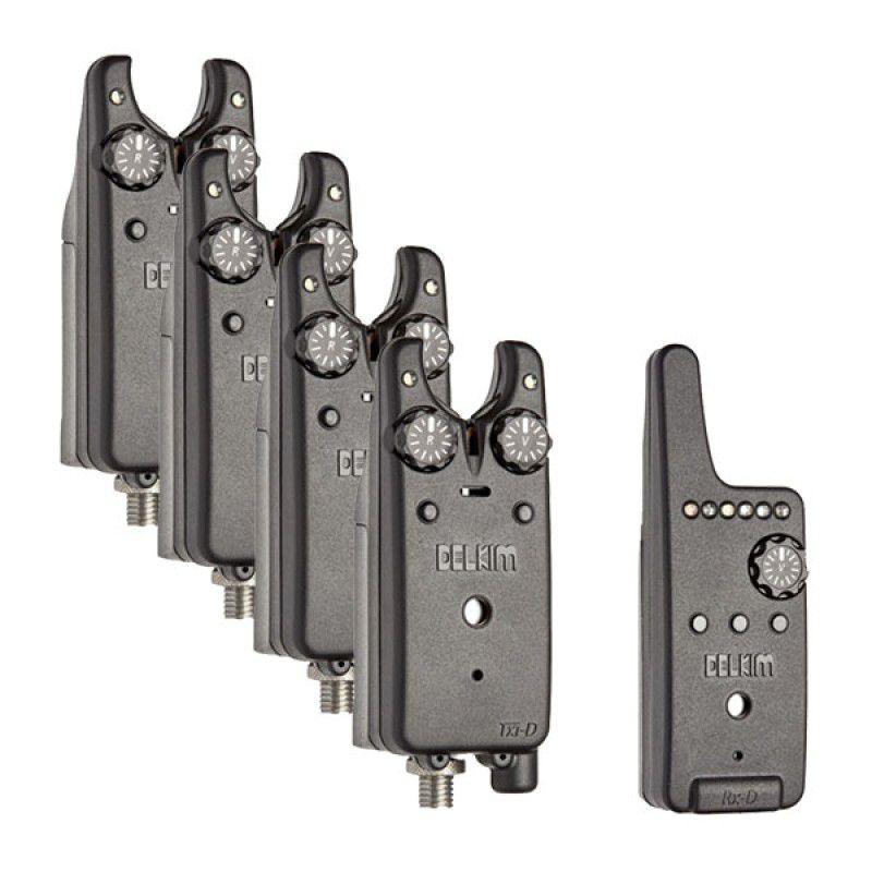 DELKIM Txi-D Digital Bite Alarms Set kibimo signalizatorių komplektas (4+1)