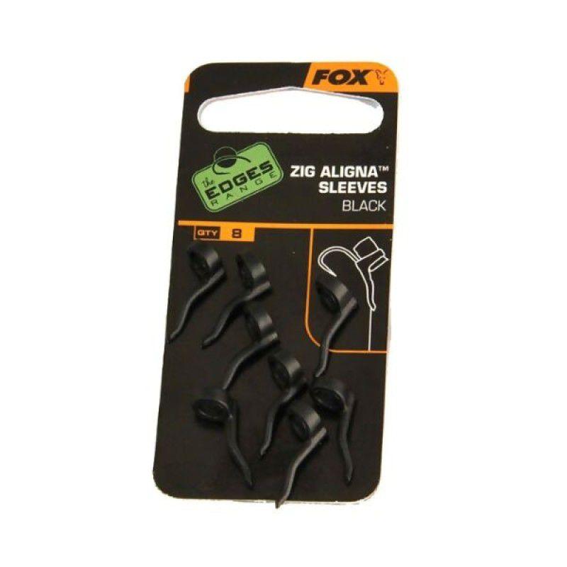 FOX Edges Zig Aligna Sleeves dirbtiniai masalai (juodos, 8 vnt.)