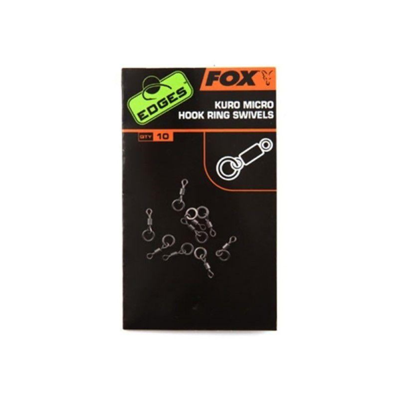 FOX Edges Kuro Micro Hook Ring Swivels suktukai (10 vnt.)