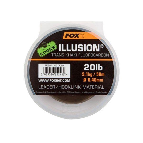 FOX Edges Illusion Tranks Khaki fluorokarboninis valas (9.1 kg / 20 lb, 0.40 mm, 50 m)