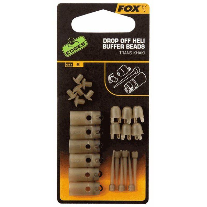 FOX Edges Trans Khaki Drop Off Heli Buffer Beads sistemėlių elementai (6 vnt.)
