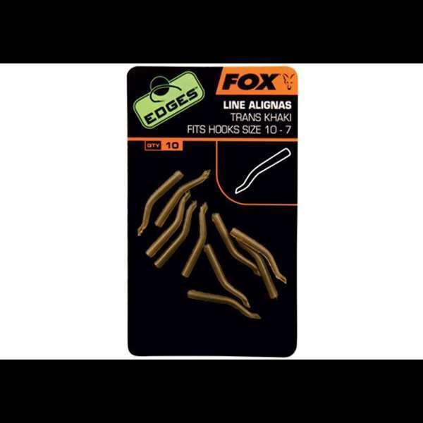 FOX Edges Trans Khaki Short Line Alignas vamzdeliai (7-10 dydžio kabliukams, 10 vnt.)