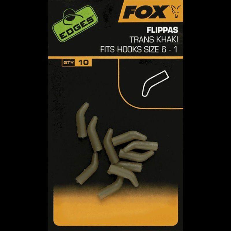 FOX Edges Trans Khaki Flippas vamzdeliai (7-10 dydžio kabliukams, 10 vnt.)
