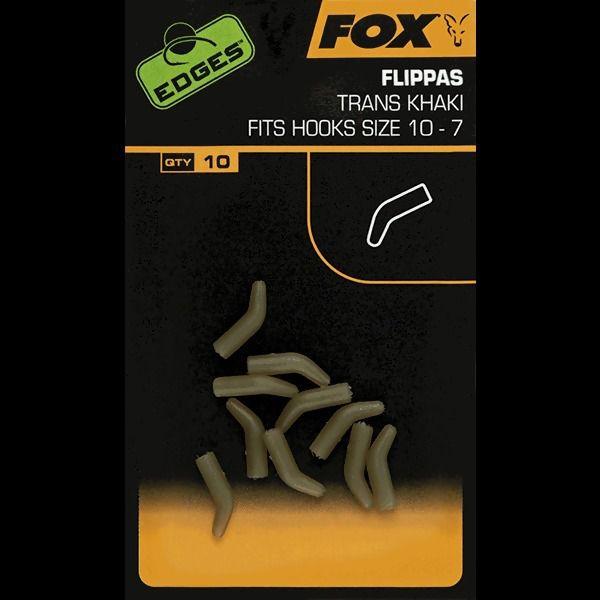 FOX Edges Trans Khaki Flippas vamzdeliai (1-6 dydžio kabliukams, 10 vnt.)