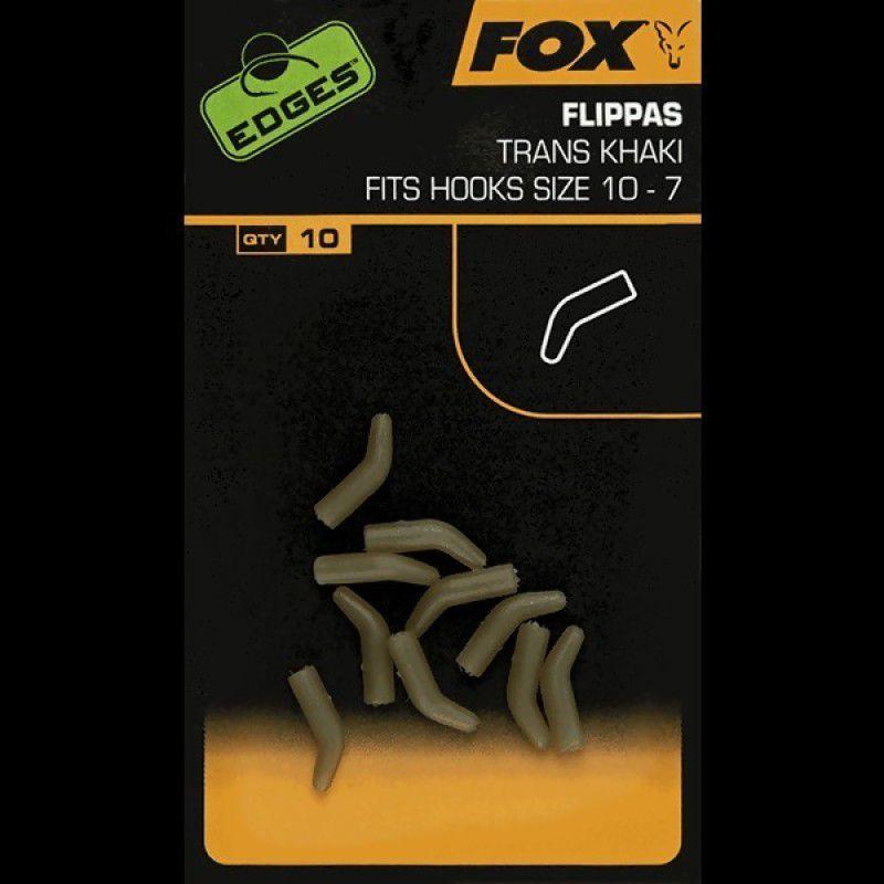 FOX Edges Trans Khaki Flippas vamzdeliai (1-5 dydžio kabliukams, 10 vnt.)