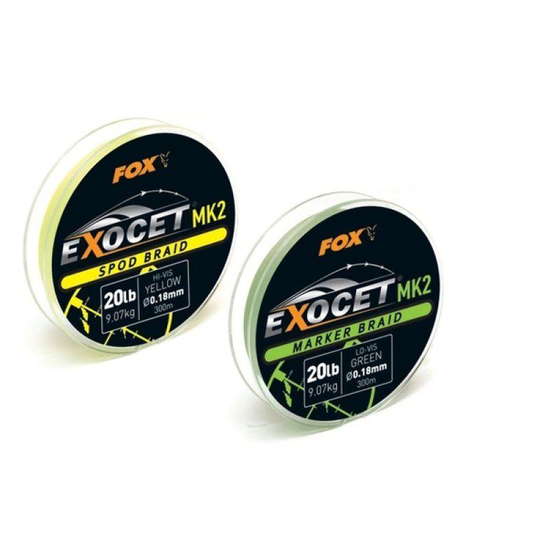 FOX Exocet MK2 Spod Braid Line Yellow pintas valas (0.18 mm, 9.07 kg / 20 lb, 300 m)