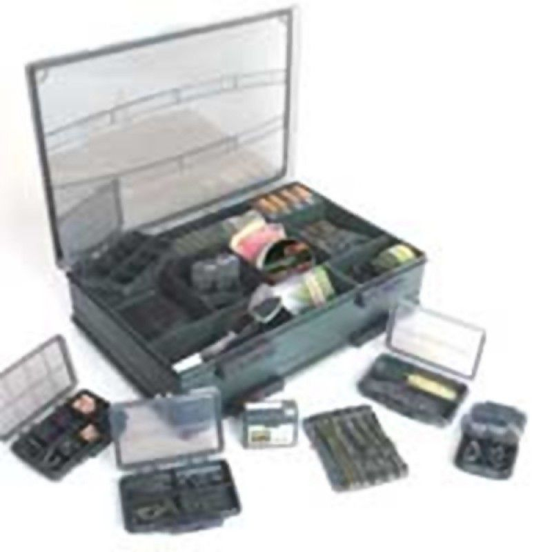 FOX Deluxe Double Accessory Box žūklės reikmenų dėžutė (didelė, dvipusė)
