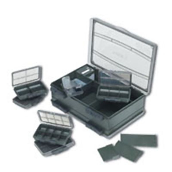 FOX Deluxe Double Accessory Box žūklės reikmenų dėžutė (vidutinė, dvipusė)
