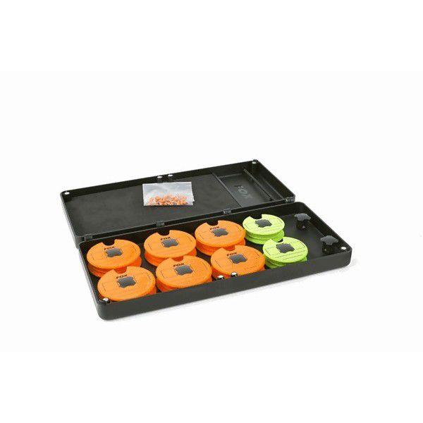 FOX Disc & Rig Box System inc. Pins & Discs dėklas pavadėliams (vidutinis)