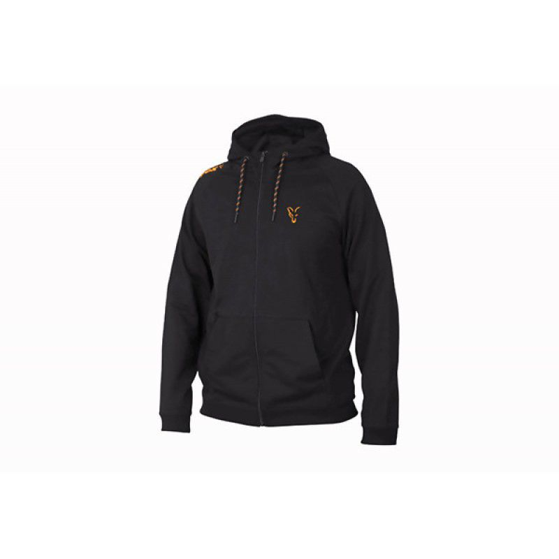 FOX Orange & Black Lightweight Hoodie džemperis (L dydis)