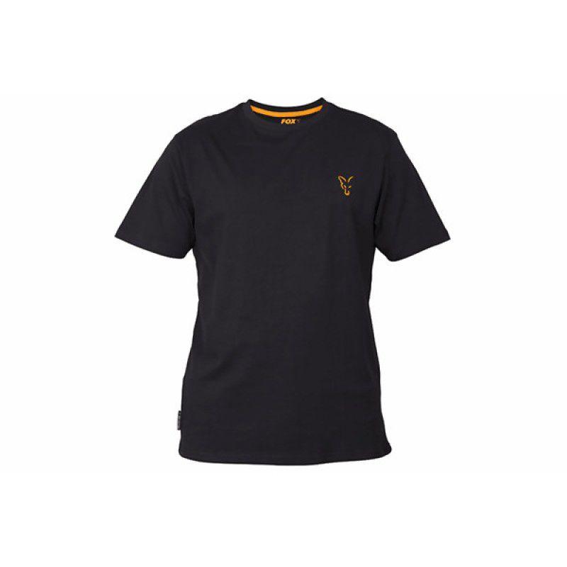 FOX Orange & Black T-shirt marškinėliai (S dydis)