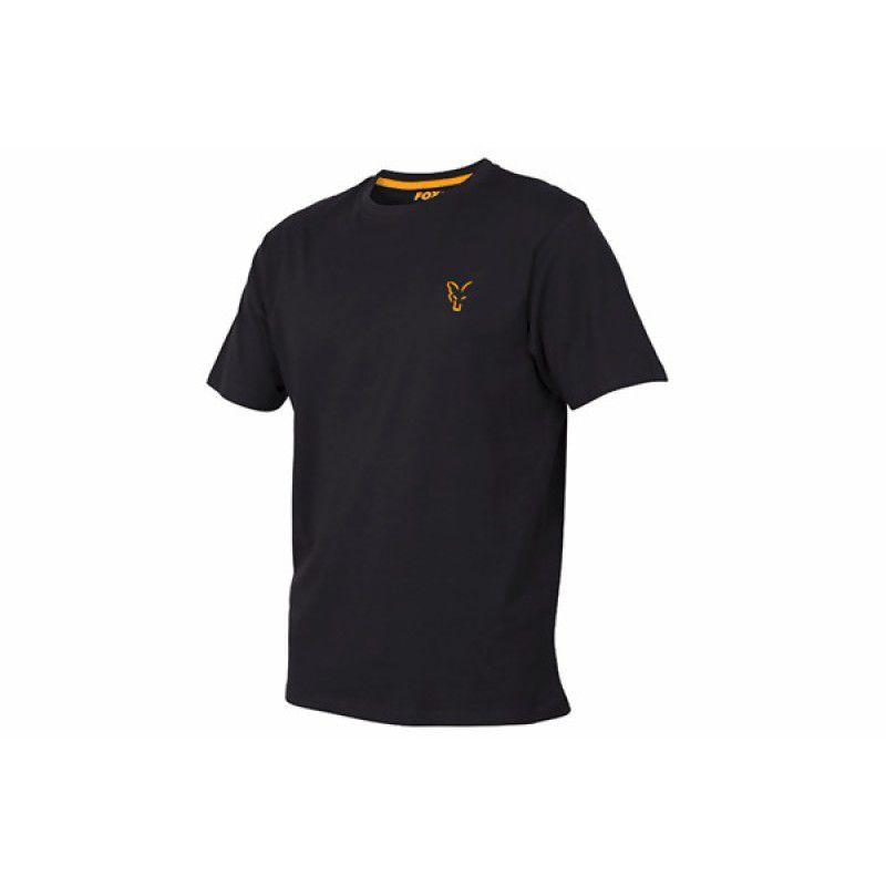FOX Orange & Black T-shirt marškinėliai (L dydis)