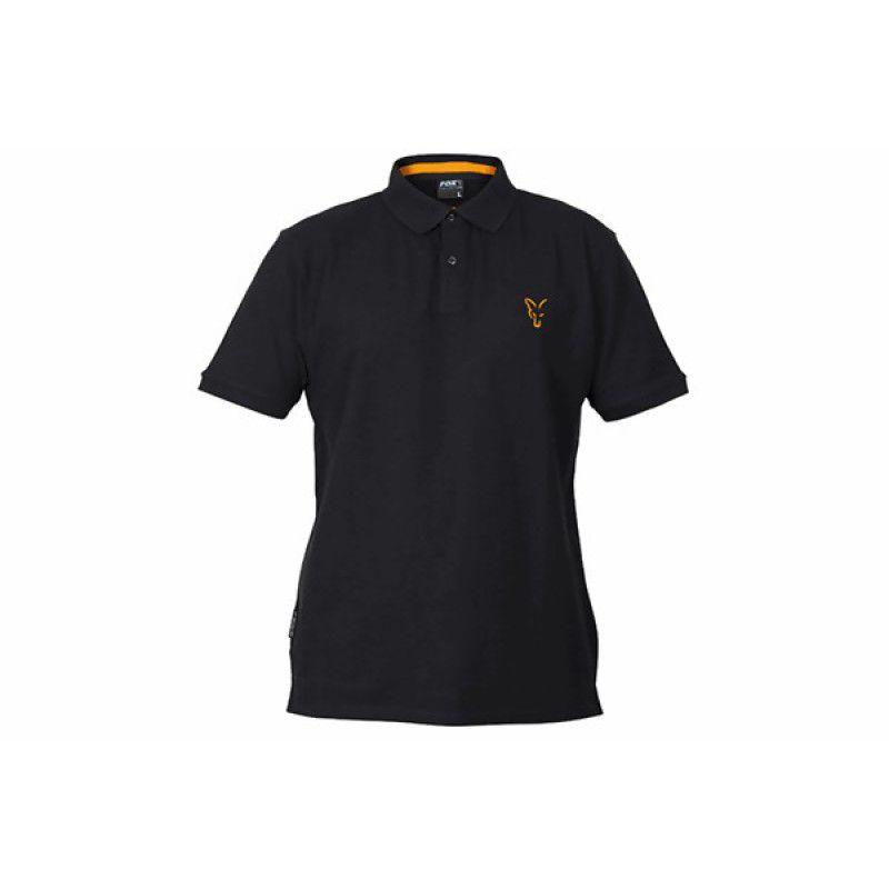 FOX Orange & Black Polo Shirt marškinėliai (S dydis)