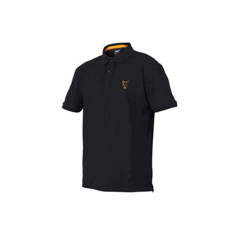 FOX Orange & Black Polo Shirt marškinėliai (L dydis)