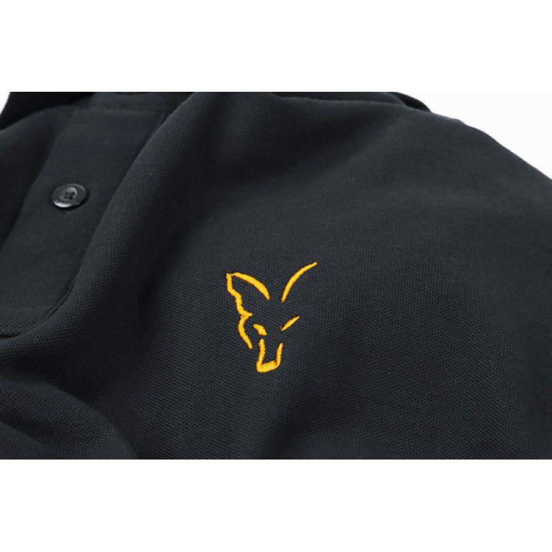 FOX Orange & Black Polo Shirt marškinėliai (XL dydis)