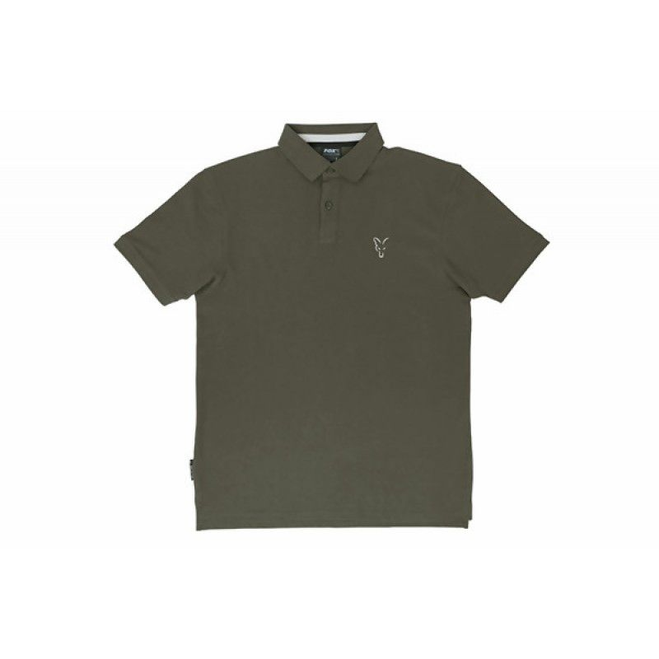 FOX Green & Silver Polo Shirt marškinėliai (S dydis)