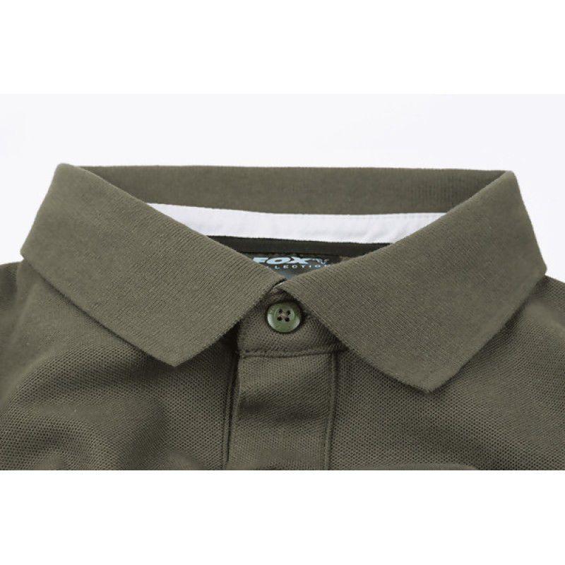 FOX Green & Silver Polo Shirt marškinėliai (M dydis)