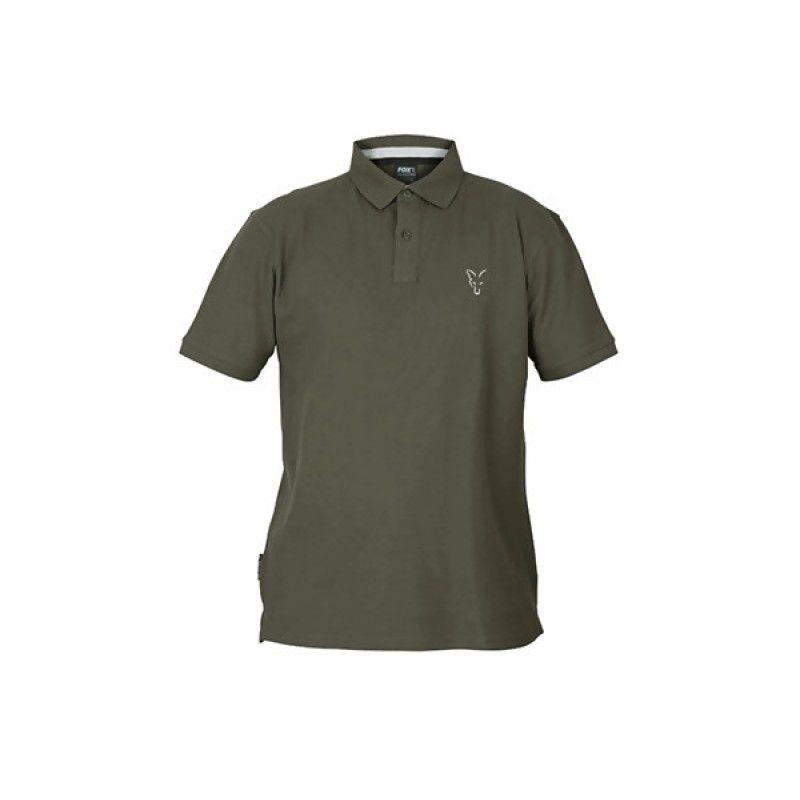 FOX Green & Silver Polo Shirt marškinėliai (XL dydis)