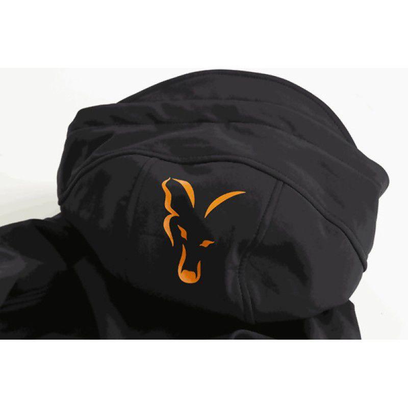 FOX Orange & Black Shell Hoodie džemperis (M dydis)
