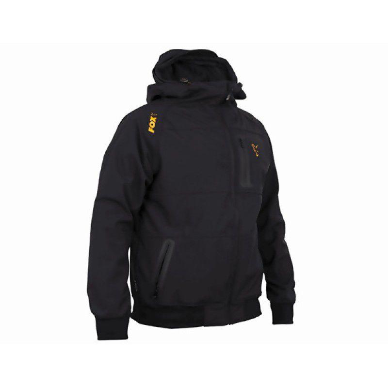 FOX Orange & Black Shell Hoodie džemperis (L dydis)