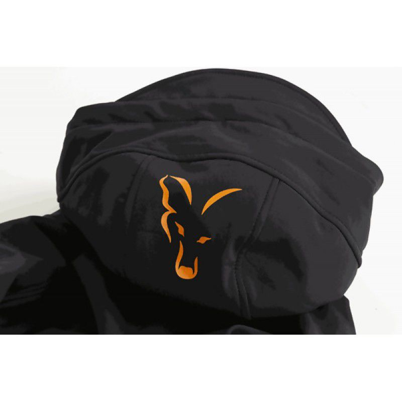 FOX Orange & Black Shell Hoodie džemperis (3XL dydis)