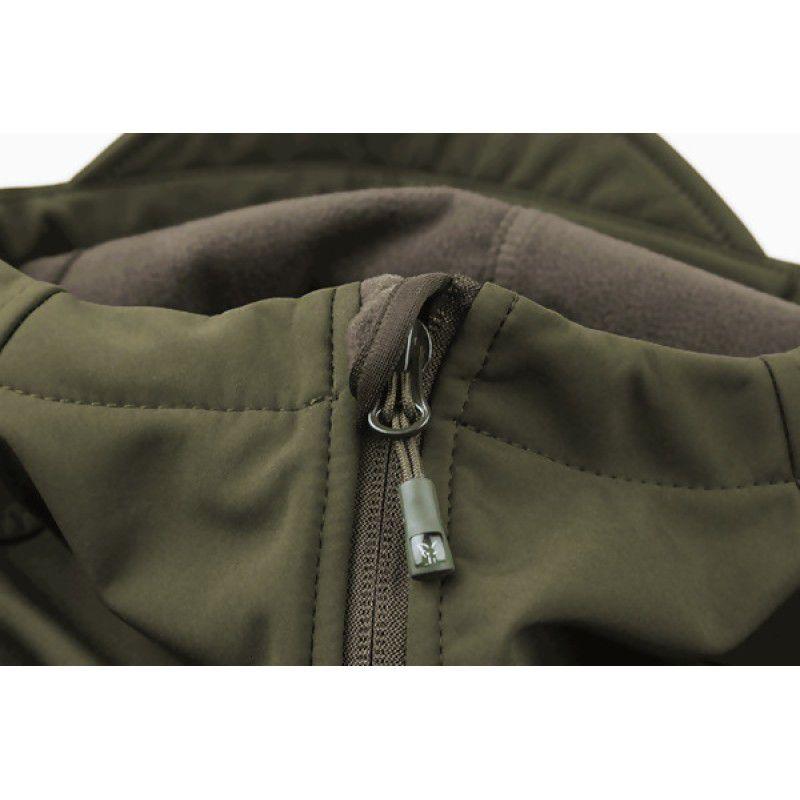 FOX Green & Silver Shell Hoodie džemperis (XL dydis)