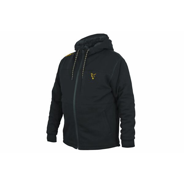FOX Fox Collection Sherpa Hoody Black & Orange Hoodie džemperis (S dydis)