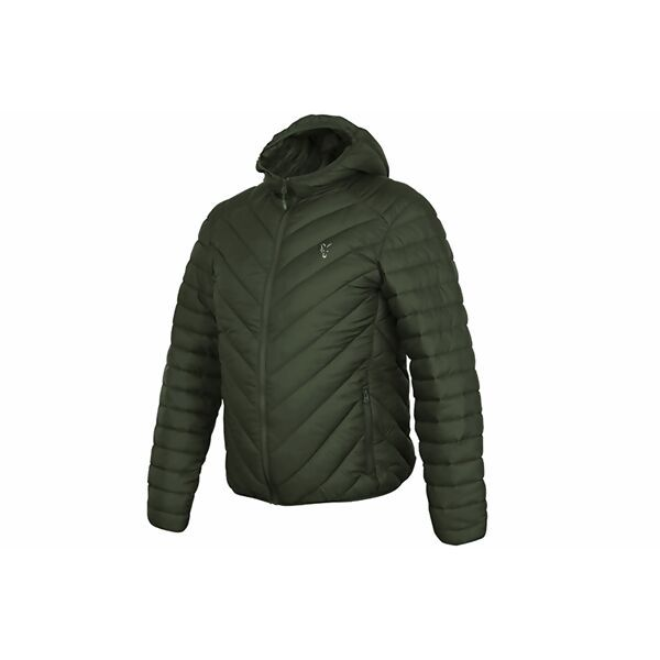 FOX Collection Green & Silver Quilted Jacket striukė (XXL dydis)