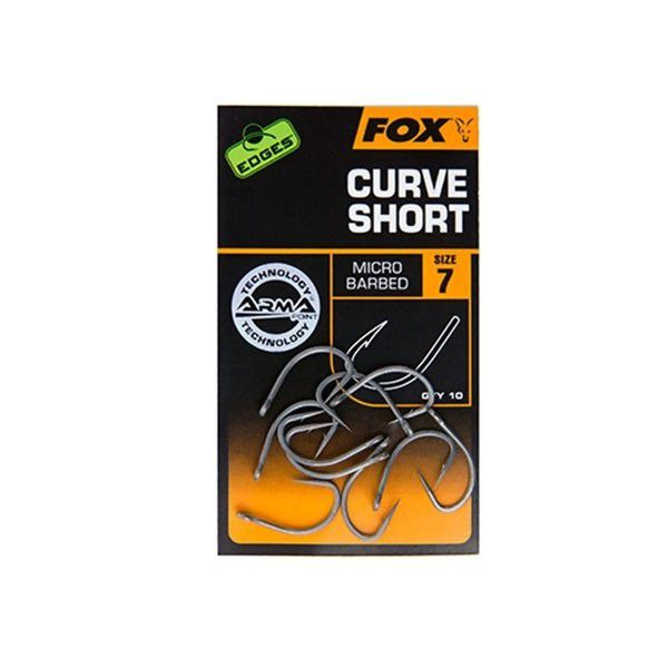 FOX Edges Curve Short kabliukai (7 dydis)