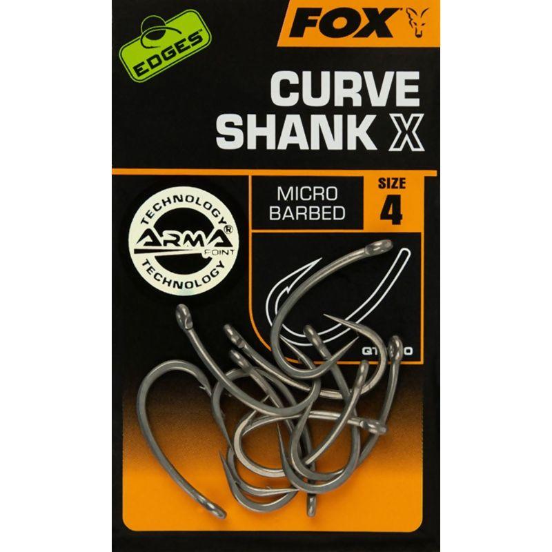 FOX EDGES Curve Shank X Hooks kabliukai (4 dydis)