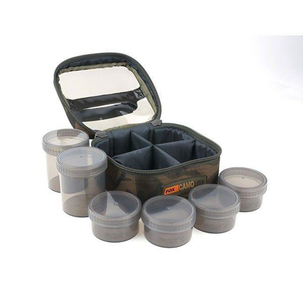 FOX Camolite™ Glug 6 Pot Case žvejybos reikmenų dėžutė (su 6 indeliais masalams)