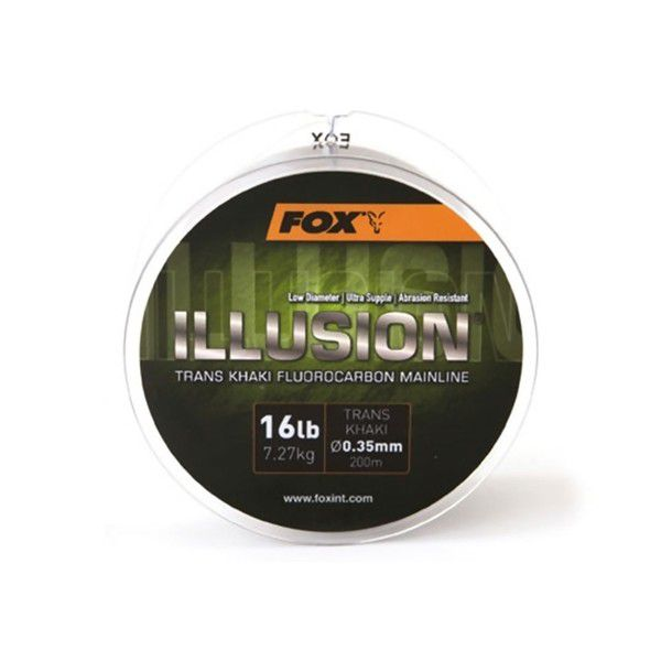 FOX Illusion Fluorocarbon Line Trans Khaki fluorokarboninis valas (19 lb / 0.39 mm, 200 m)