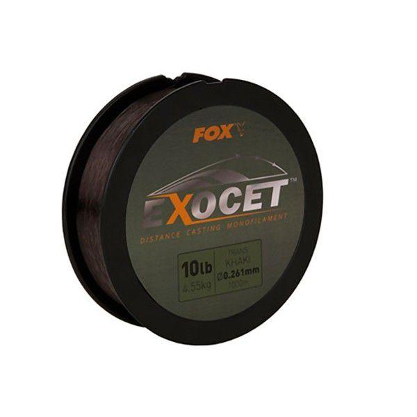 FOX Exocet Trans Khaki Mono Mainline monofilamentinis valas (0.350 mm, 8.18 kg / 18 lb, 1000 m)