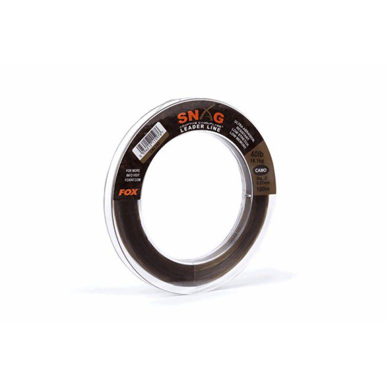 FOX Snag Leader Trans Khaki monofilamentinis vedantis valas (0.57 mm, 18.1 kg / 40 lb, 100 m)