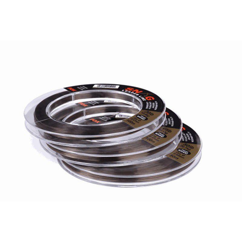 FOX Snag Leader Trans Khaki monofilamentinis vedantis valas (0.66 mm, 22.6 kg / 50 lb, 80 m)