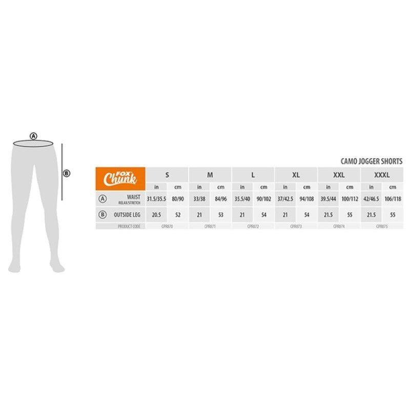 FOX Chunk Camo Jogger Shorts šortai (XL dydis)