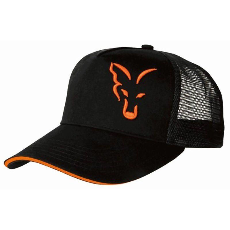 FOX Black & Orange Trucker Cap kepuraitė