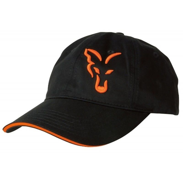 FOX Black & Orange Baseball Cap kepuraitė