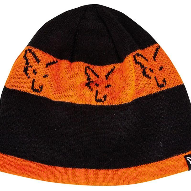 FOX Black & Orange Beanie kepurė