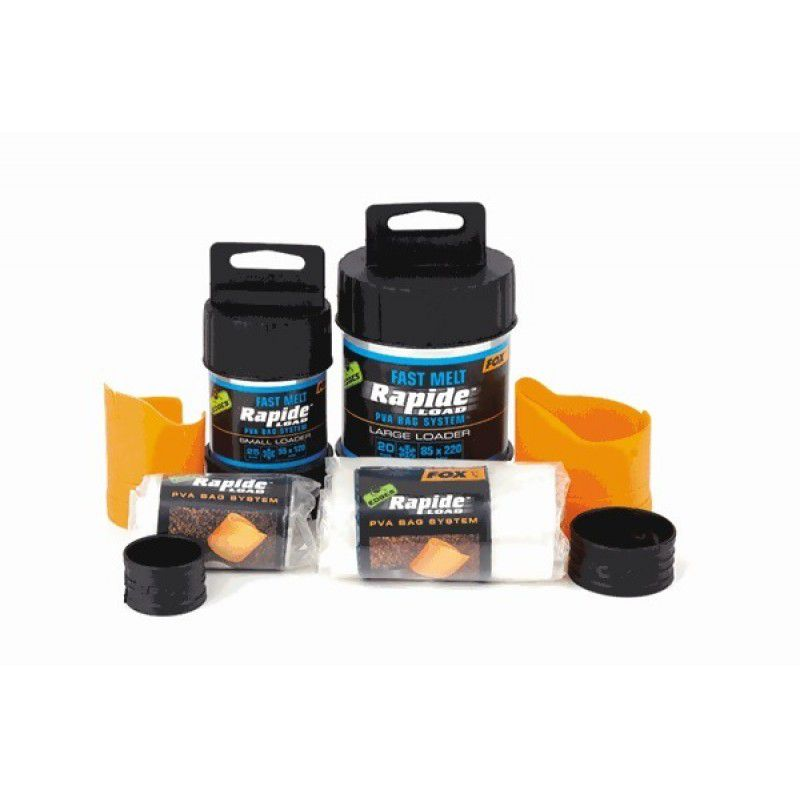 FOX Edges Rapide System Fast Melt PVA Bags PVA maišeliai su dėžute (55x120 mm, greitai tirpstantys, 25 vnt.)