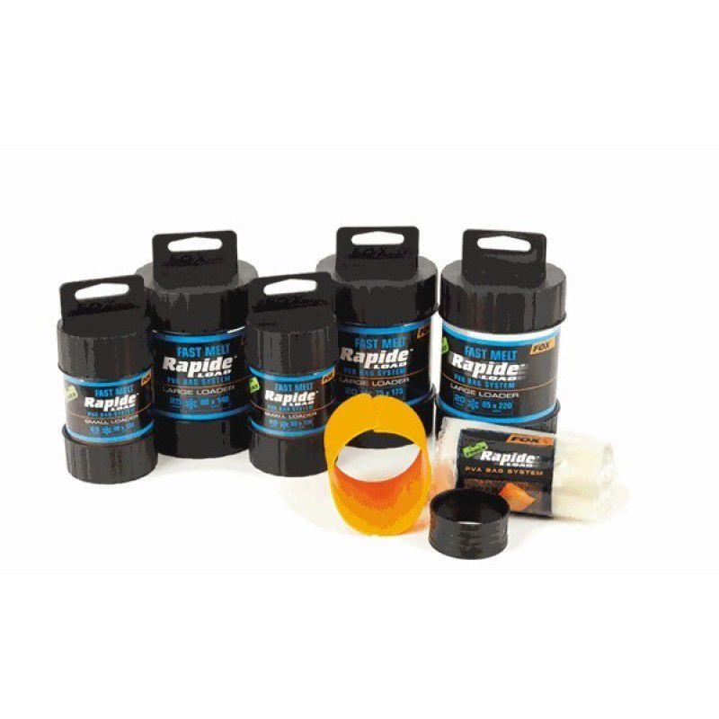 FOX Edges Rapide System Fast Melt PVA Bags PVA maišeliai su dėžute (85 mm x 140 mm, greitai tirpstantys, 25 vnt.)