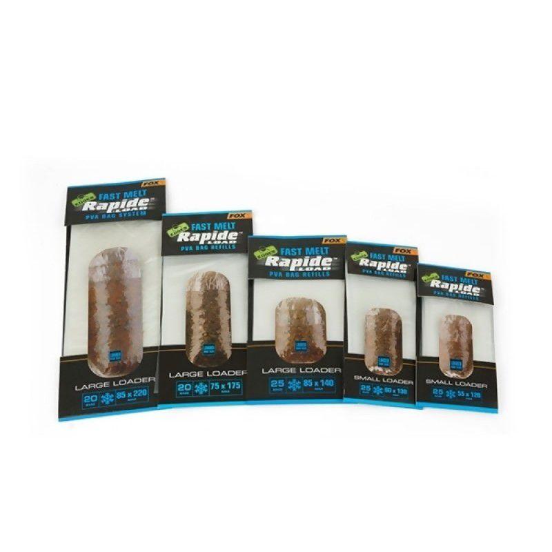 FOX Edges Rapide System Fast Melt PVA Bags Refill PVA maišelių papildymas (55 mm x 120 mm, greitai tirpstantys, 25 vnt.)