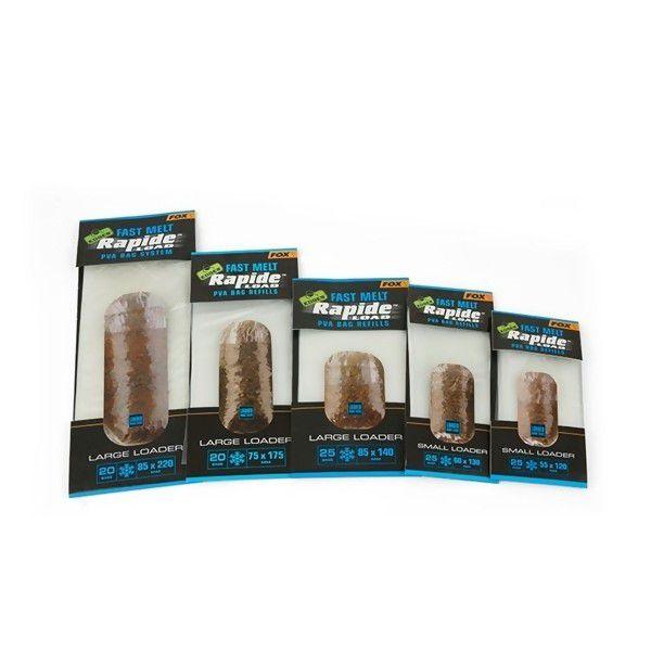 FOX Edges Rapide System Refill Fast Melt PVA maišelių papildymas (75 mm x 175 mm, greitai tirpstantys, 20 vnt.)