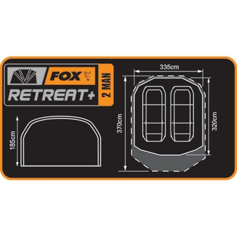 FOX Retreat+ 2 Man Bivvy dvivietė palapinė (su papildomu vidiniu sluoksniu)