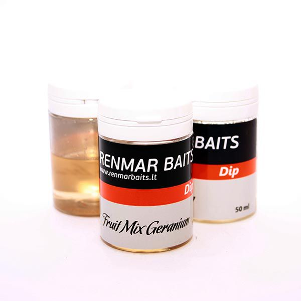 RENMAR BAITS DIP dipas (Fruit Mix Geranium, 50 ml)