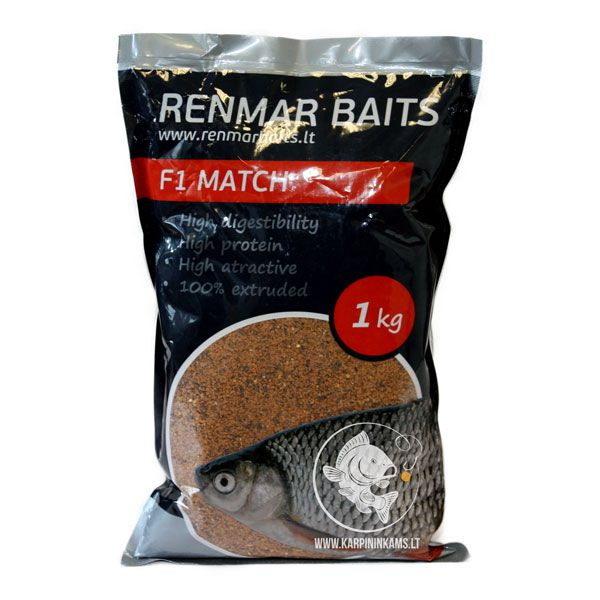 RENMAR BAITS Groundbaits Mix / sausas jaukas (F1 Match, 1 kg)