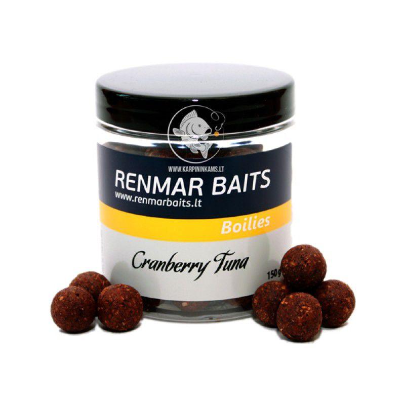 RENMAR BAITS Strawberry Tuna Hard Hookbait Boilies skęstantys masaliniai boiliai (16 mm, 150 g)