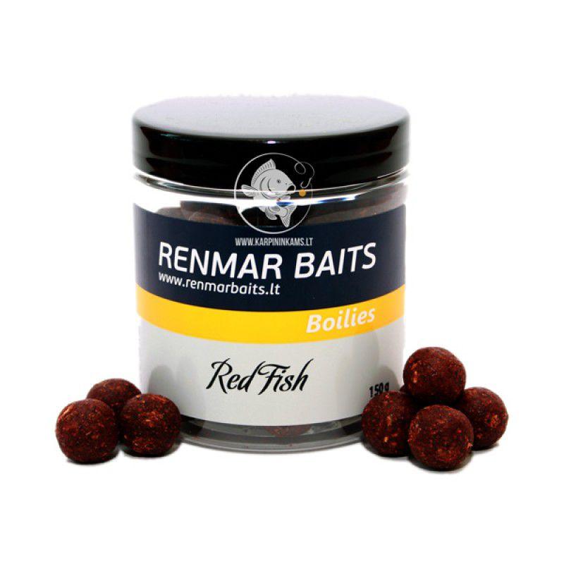 RENMAR BAITS Red Fish Hard Hookbait Boilies skęstantys masaliniai boiliai (16 mm, 150 g)